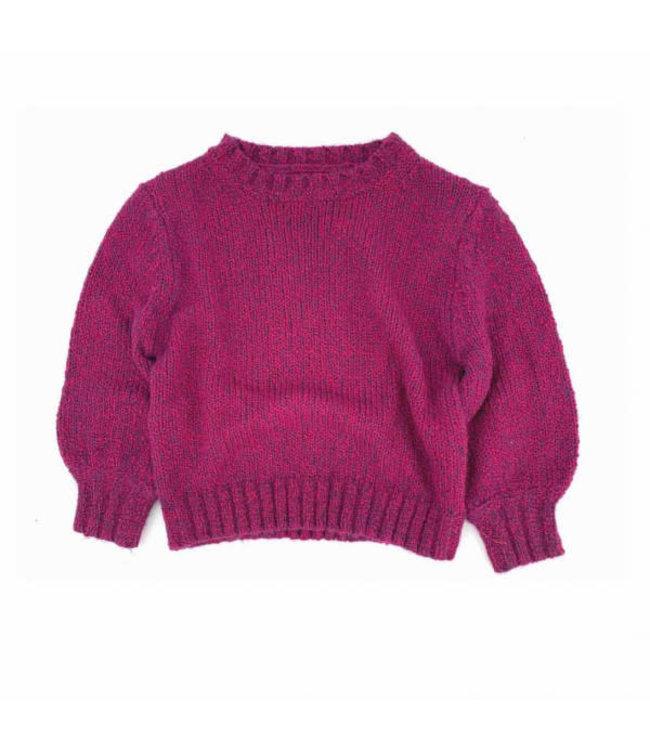Rough sweater - wine twist