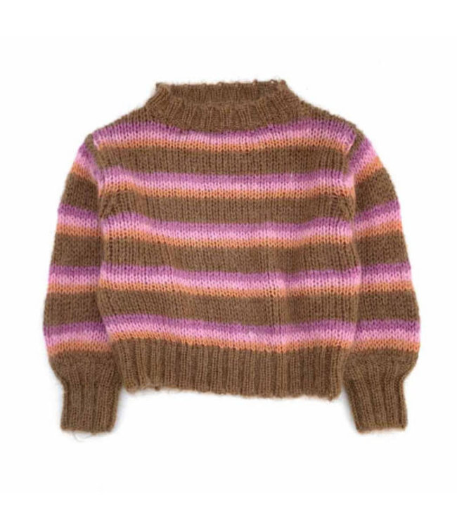 Long Live The Queen Striped sweater - brown stripe