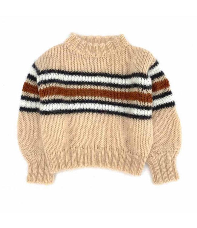 Striped sweater - natural stripe