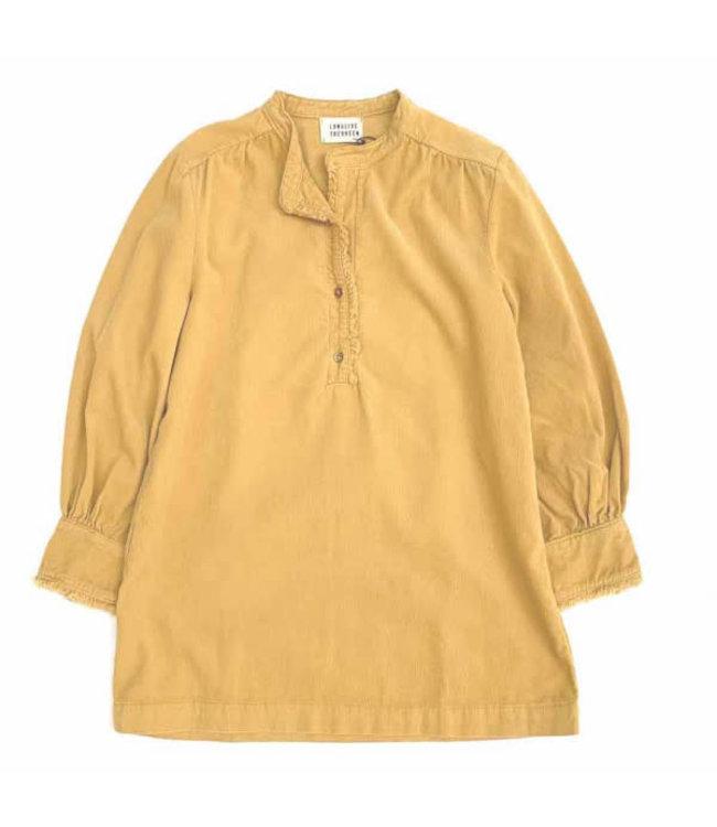 Minidress with ruffles - dirty yellow