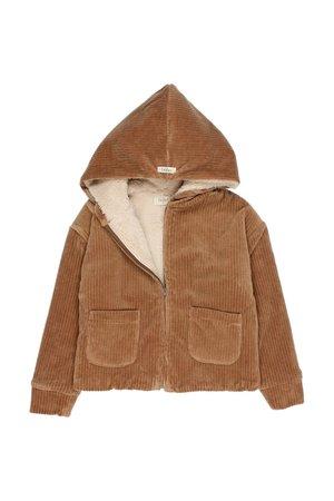 Buho Knit velour jacket - muscade