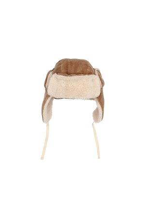 Buho Knit velour hat - muscade