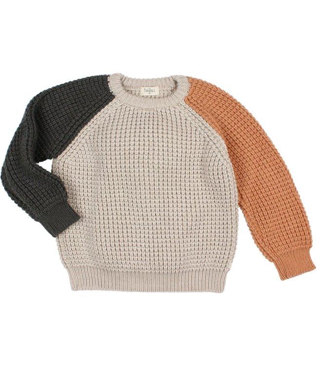 Buho Soft knit jumper - tricolor