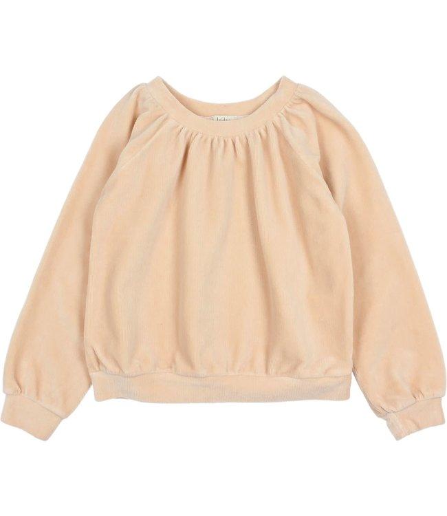 Velvet sweatshirt - rose