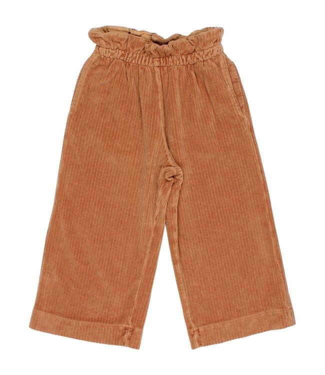 Buho Knit velour culotte pants - hazel