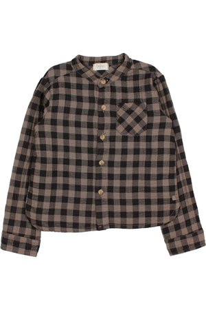 Buho Vichy pocket shirt - taupe