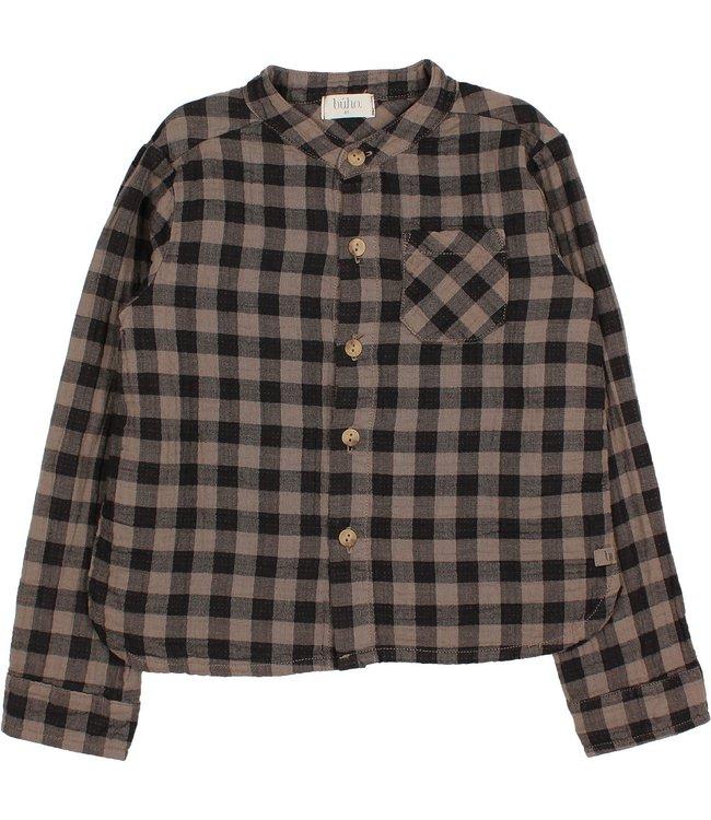 Vichy pocket shirt - taupe