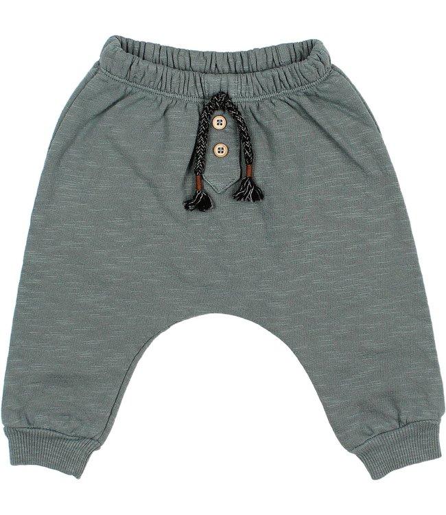 Buho Baby fleece pants - north sea