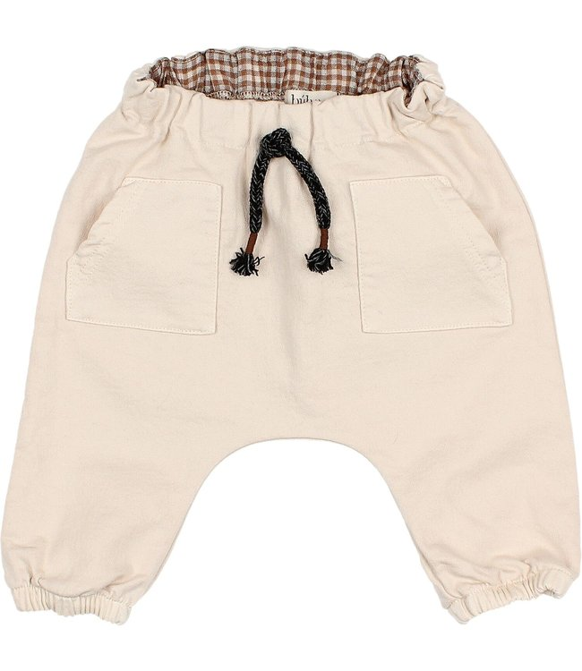 Baby front pockets pants - stone