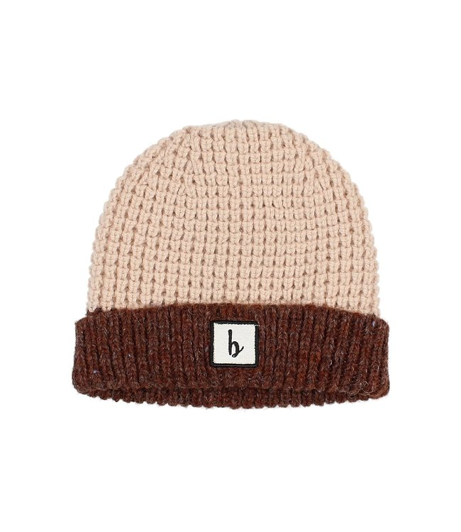 Buho Bicolor knit beanie - henna