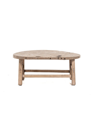 Round coffee table with metal details - Ø79 cm
