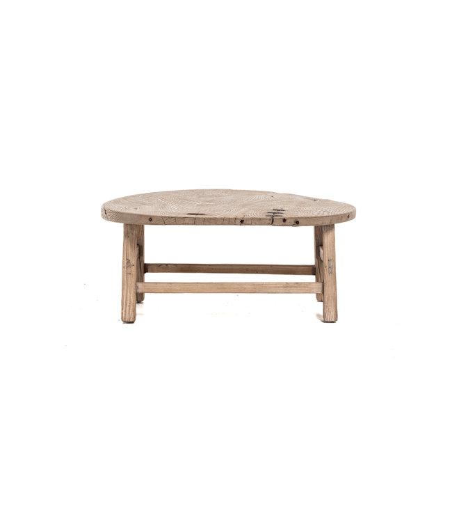 Ronde salontafel olm met metalen accenten - Ø79 cm