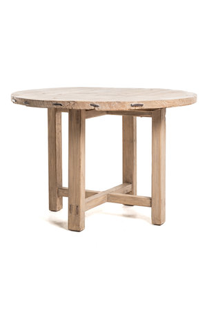 Round table with wooden legs  #5