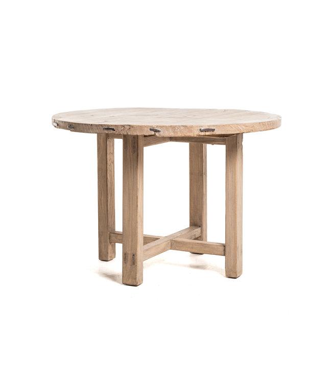 Ronde tafel met houten onderstel #5 - Ø115 cm