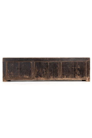 Old patinated low cupboard - L204 cm