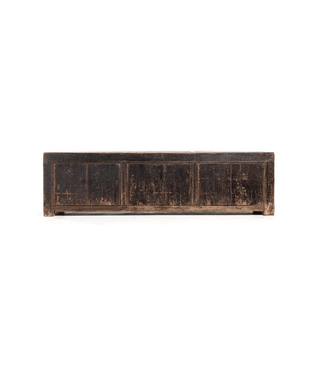 Oude gepatineerde lage dressoir - L204 cm