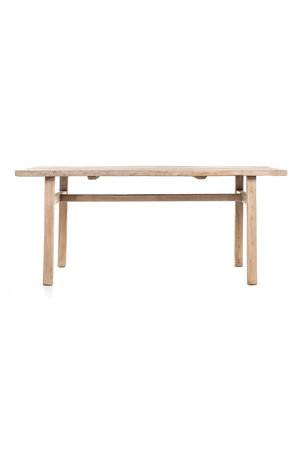 Old elm table with wooden legs #2