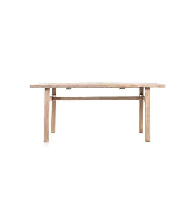 Oude olm tafel met houten poten #2 - L185 cm