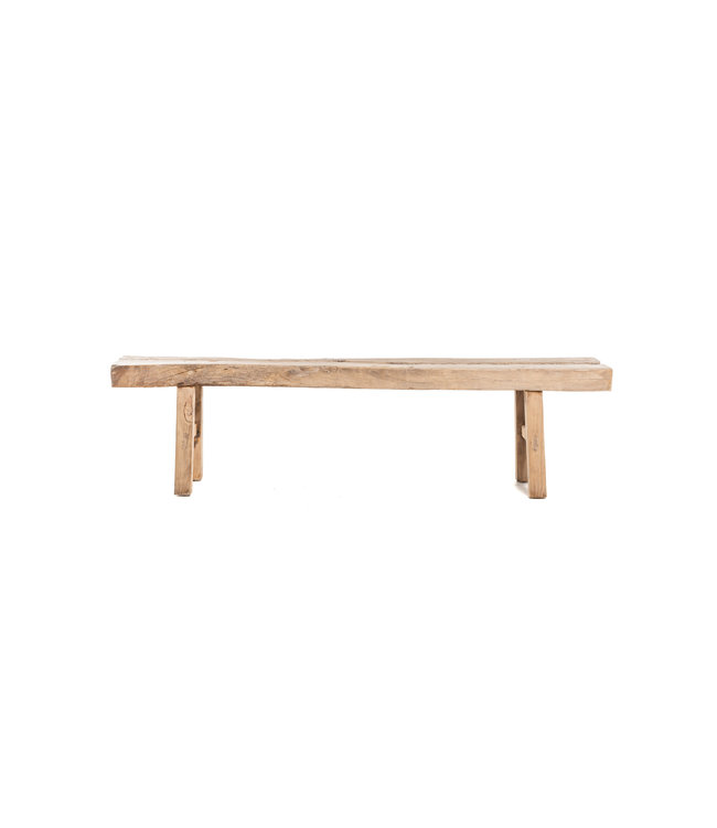 Bench weathered elm wood- L225 cm