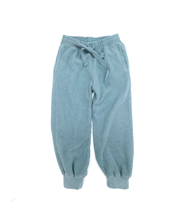 Terry joggers - old blue
