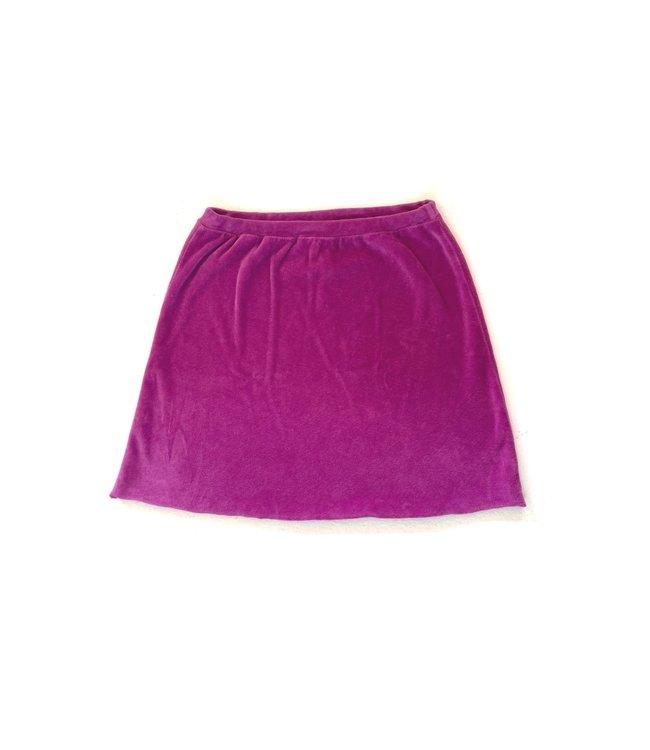 Velvet skirt  - purple