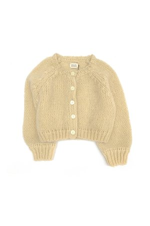 Long Live The Queen Cardigan - pale yellow