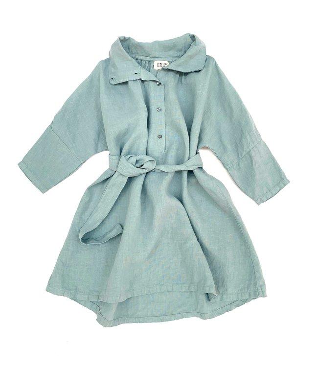 Linen dress - old blue