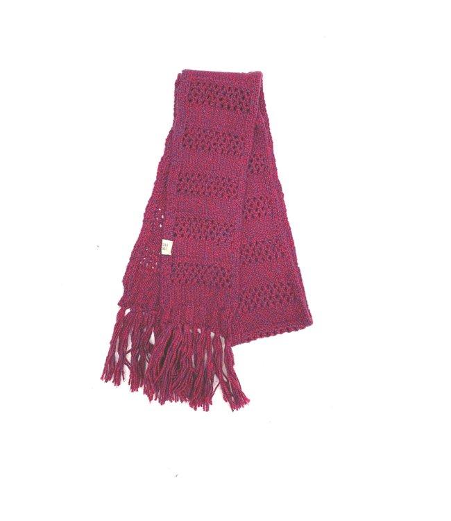 Rough scarf - wine twist