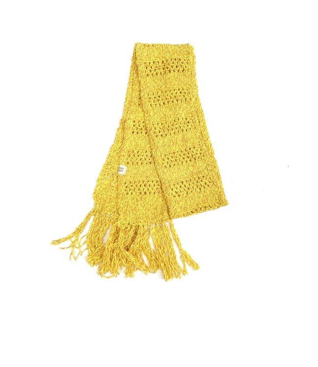 Rough scarf - yellow twist