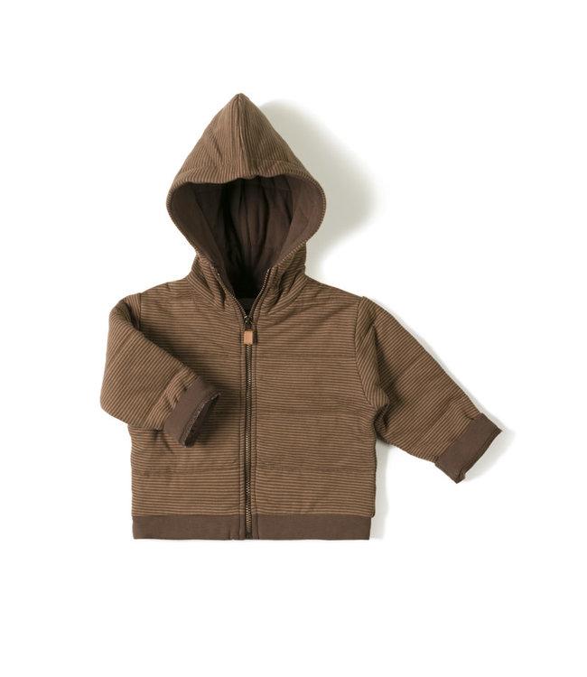 Baby jacket stripe - toffee