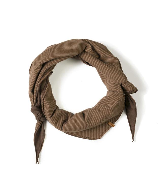 Triangle scarf - stripe toffee