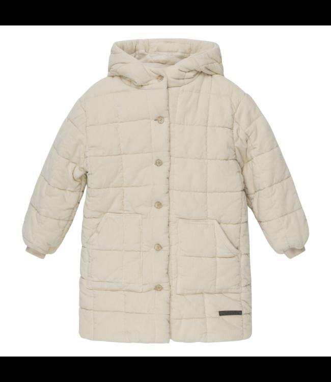Hoshy corduroy kids padded coat - stone
