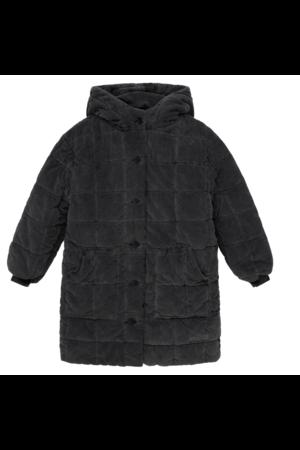 My little cozmo Hoshy corduroy kids padded coat - dark grey