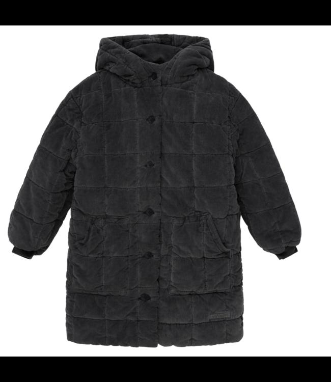 Hoshy corduroy kids padded coat - dark grey