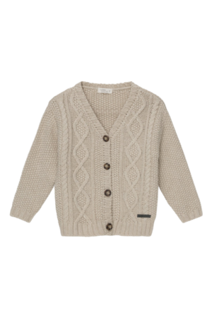 My little cozmo Betty kids cable knit cardigan - ivory
