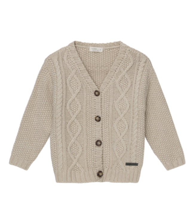 Betty kids cable knit cardigan - ivory