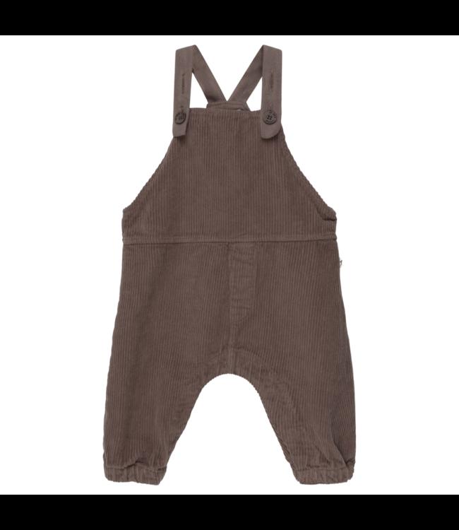 Noa organic baby overalls - taupe
