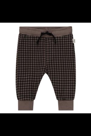 My little cozmo Matias organic baby plaid pants - taupe