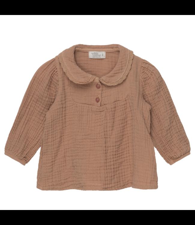Maria organic baby blouse - pink