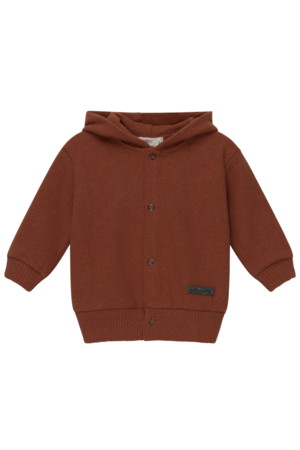 My little cozmo Karter hooded jacket babies recycled - brown