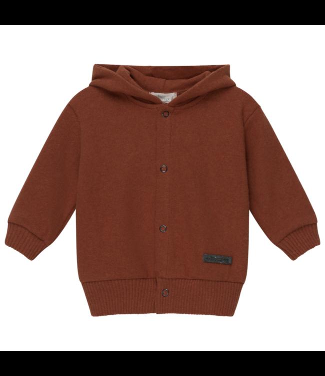 Karter hooded jacket babies recycled - brown