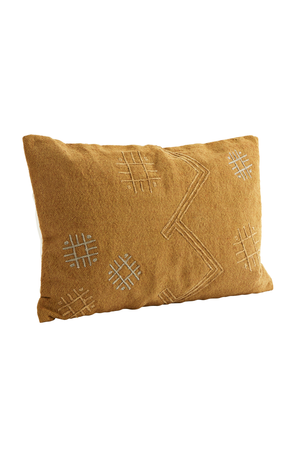 Embroidered cushion - honey