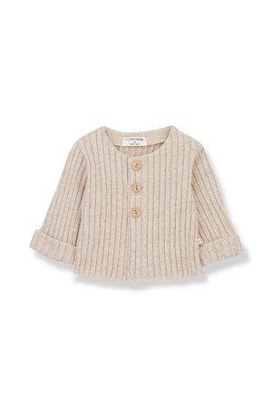 1+inthefamily Violette newborn jacket cream
