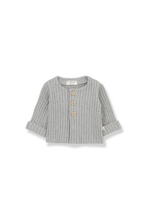 1+inthefamily Violette newborn jacket grey