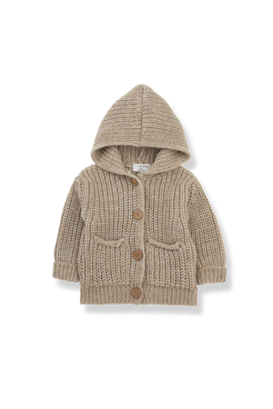 1+inthefamily Ubald newborn jacket - beige