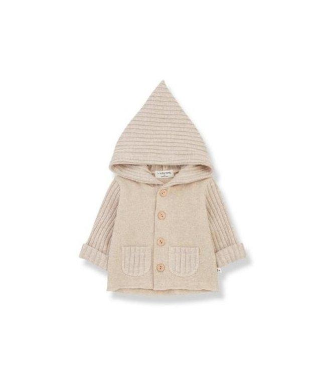 Elliot newborn hood jacket cream