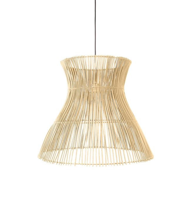 Rotan hanglamp 'Halo' S - naturel