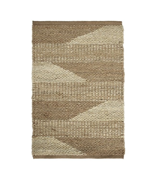 Jute carpet, two-colored pattern - natural, different sizes