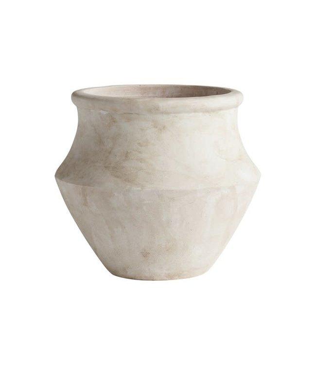 Griekse terracottapot - gewassen wit