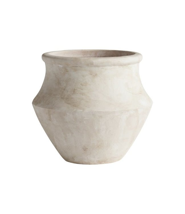 Tine K Home Terracotta pot, greek - washed white